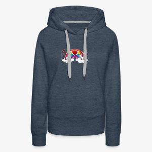 Rainbow and Unicorn - Sweat-shirt à capuche Premium pour femmes