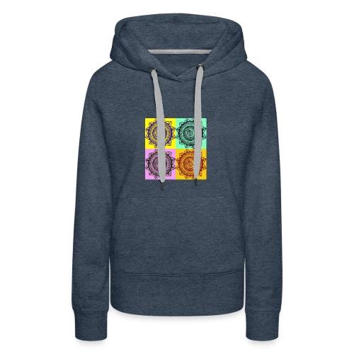 Pop Art Mandala - Women's Premium Hoodie