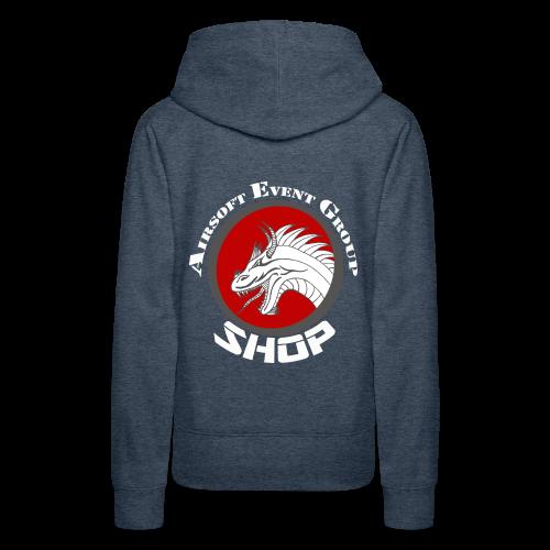 SHOP LOGO MIT SCHRIFT grau - Frauen Premium Hoodie
