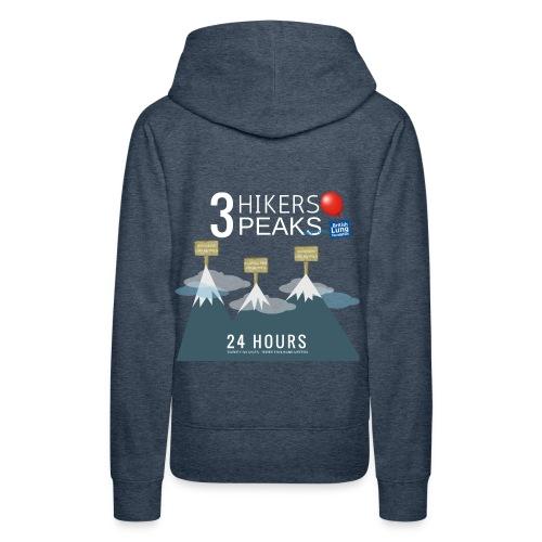 3 Hikers 3 Peaks - Women's Premium Hoodie