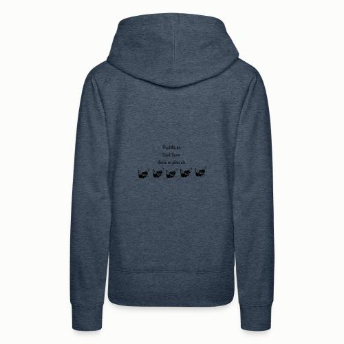 Poulette de Saint Sever élevée en plein air! - Sweat-shirt à capuche Premium pour femmes