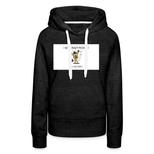 CRAZY_PEOPLES - Sweat-shirt à capuche Premium pour femmes