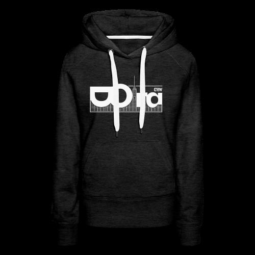 DORA Crew Logo —W - Felpa con cappuccio premium da donna