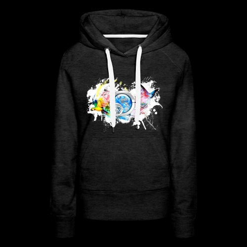 botyone bird+(a4) - Sweat-shirt à capuche Premium pour femmes