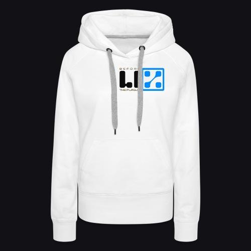 LIZ Before the Plague (Logo) - Felpa con cappuccio premium da donna