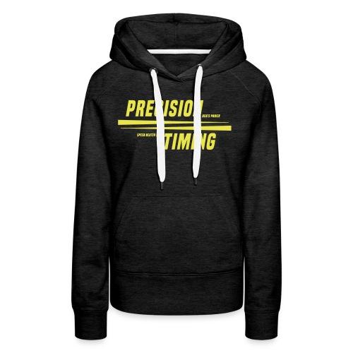 PRECISION & TIMING - Dame Premium hættetrøje