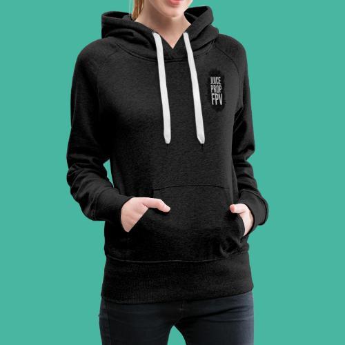 JuicePropFPV LOGO Pile TEXT Black DOUBLE - Frauen Premium Hoodie