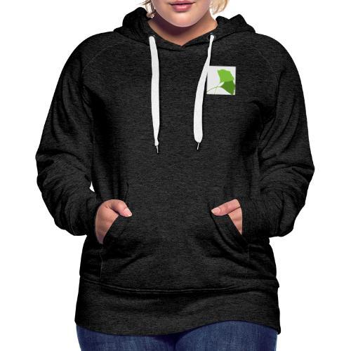 Ginko Logo - Sweat-shirt à capuche Premium pour femmes