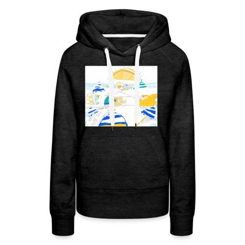 plage - Sweat-shirt à capuche Premium pour femmes