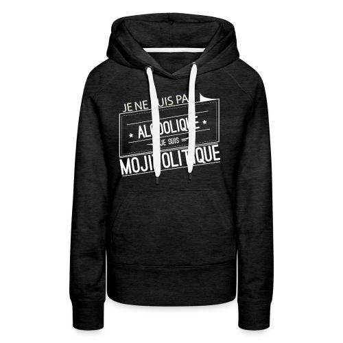 Tee Shirt Femme Violet Col Rond - je suis mojitoli - Sweat-shirt à capuche Premium pour femmes