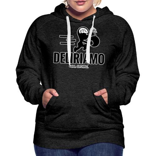 DELIRIAMO CLOTHING BRAINBOMB - Felpa con cappuccio premium da donna