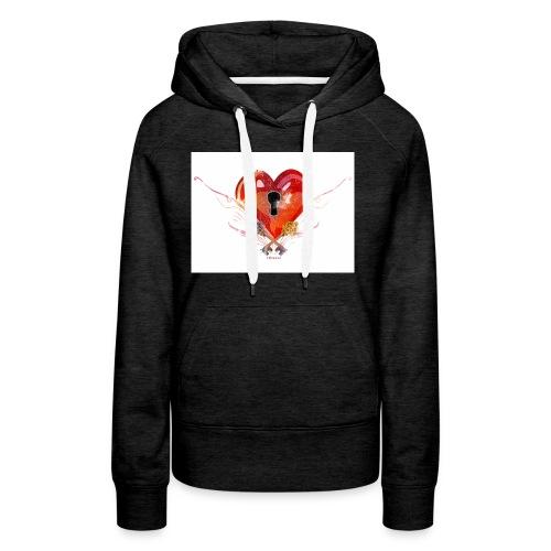 stvalentinmotif2 - Sweat-shirt à capuche Premium pour femmes