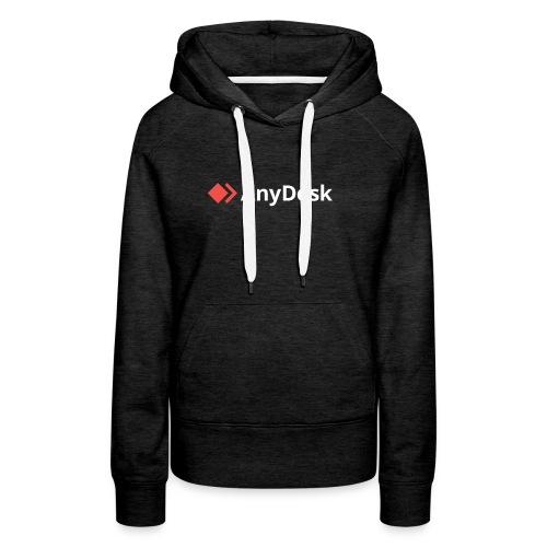AnyDesk - logo white - Frauen Premium Hoodie