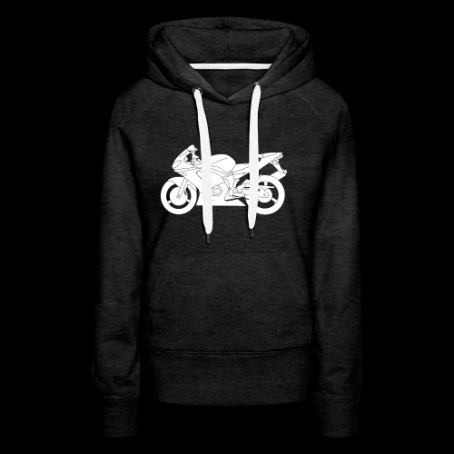 Four Wheels Moves The Body, Two Wheels Moves The S - Women's Premium Hoodie