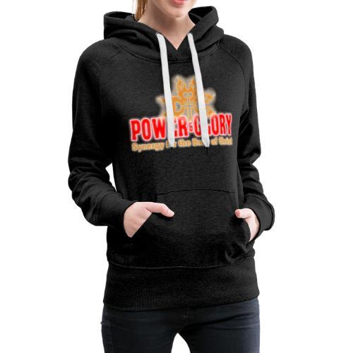Power and Glory Logo glow red and orange - Women's Premium Hoodie