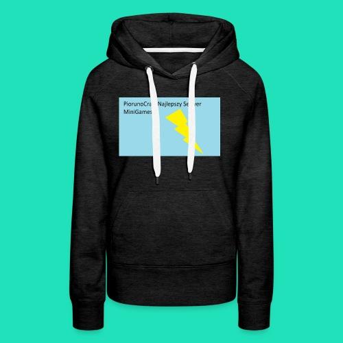 Koszulka Dla Dzieci PiorunoCraft - Bluza damska Premium z kapturem