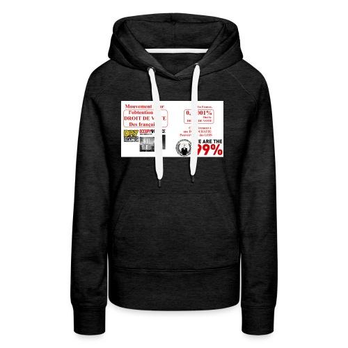 0 0001 jpeg - Sweat-shirt à capuche Premium pour femmes