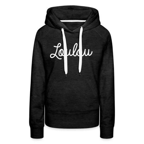 Logo-Wit - Vrouwen Premium hoodie