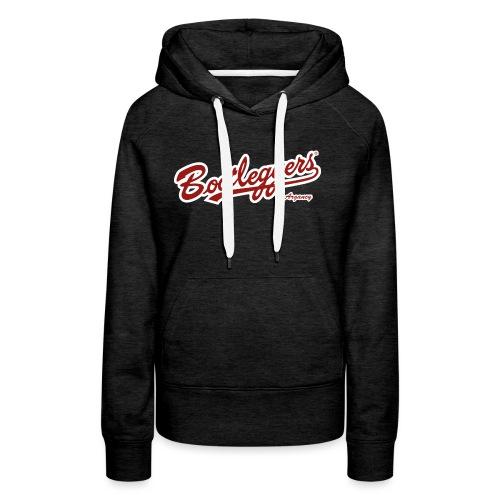 logo-bootleggers-argancy- - Sweat-shirt à capuche Premium pour femmes