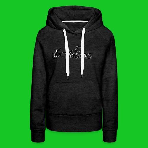 Muziek emoties transparant - Vrouwen Premium hoodie