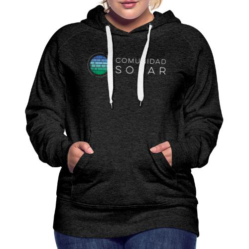 Comunidad Solar BASIC + Black - Sudadera con capucha premium para mujer