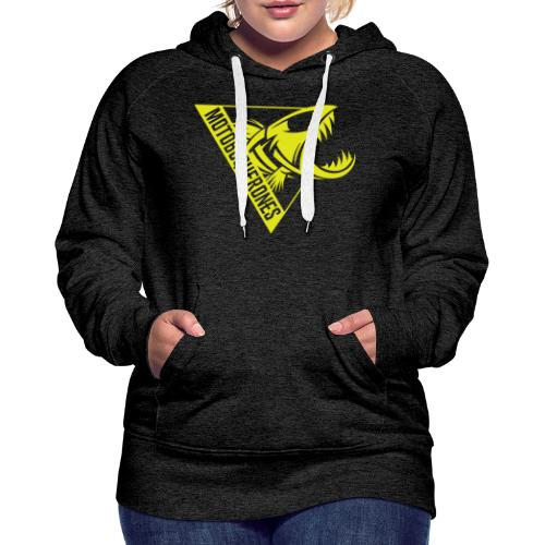 Logo Motoboquerones amarillo - Sudadera con capucha premium para mujer
