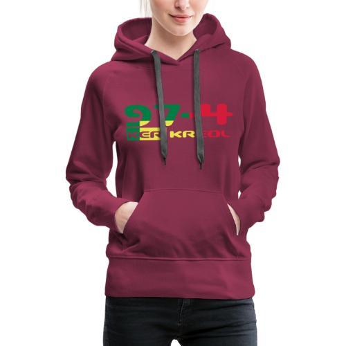 974 ker kreol Rastafari - Sweat-shirt à capuche Premium pour femmes
