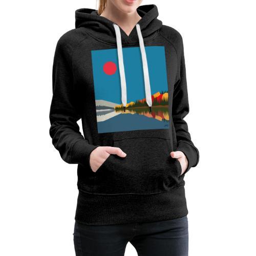 quebec - Sweat-shirt à capuche Premium pour femmes