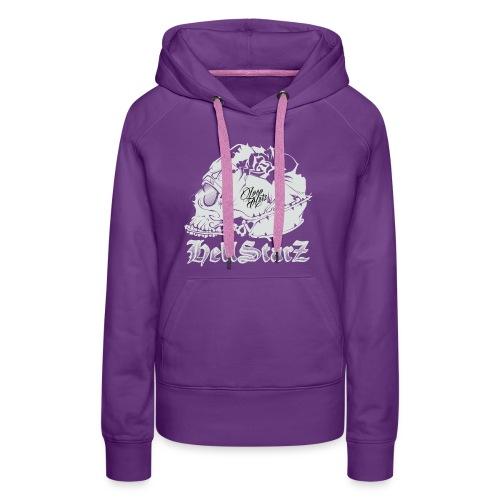 HELLSTARZ Skull Logo - Sweat-shirt à capuche Premium pour femmes