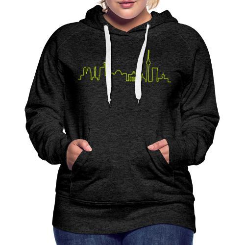 Skyline of Berlin - Sweat-shirt à capuche Premium pour femmes