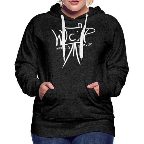 Weeklypic Logo Weiss - Frauen Premium Hoodie