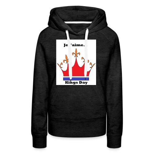 Je taime Kings Day (Je suis...) - Vrouwen Premium hoodie