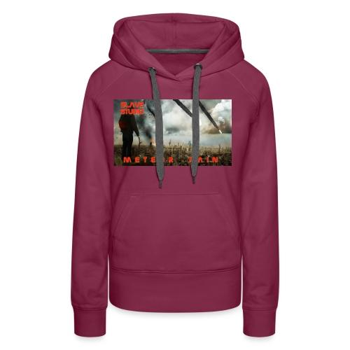 Meteor rain - Felpa con cappuccio premium da donna