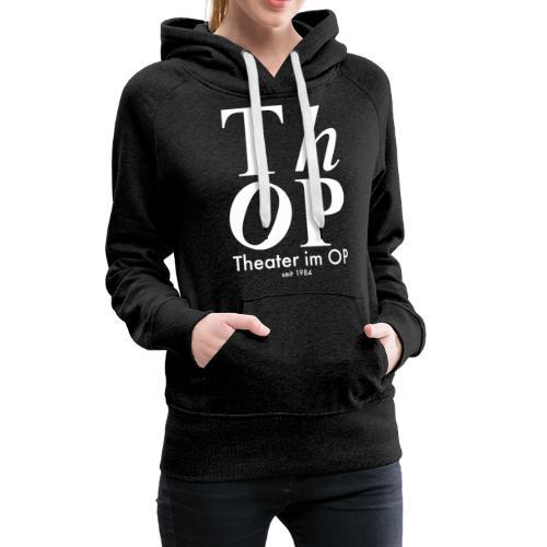 Großes Logo WEISS - Frauen Premium Hoodie