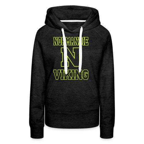 Normandie Viking Def jaune - Sweat-shirt à capuche Premium pour femmes