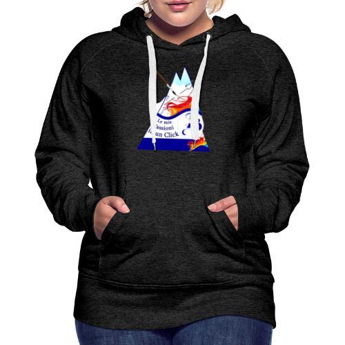 Logo colori - Felpa con cappuccio premium da donna