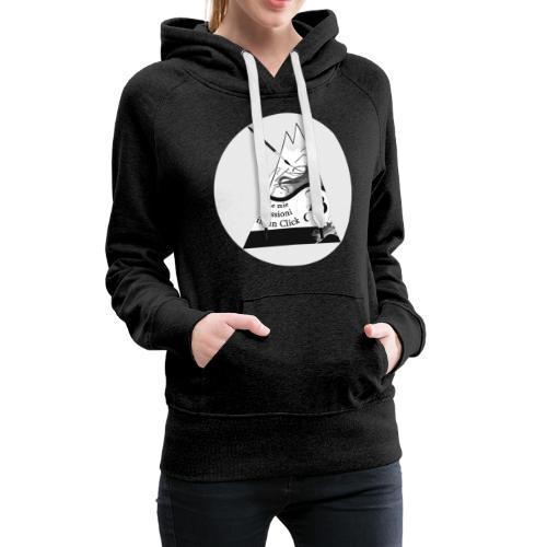 Logo BN - Felpa con cappuccio premium da donna