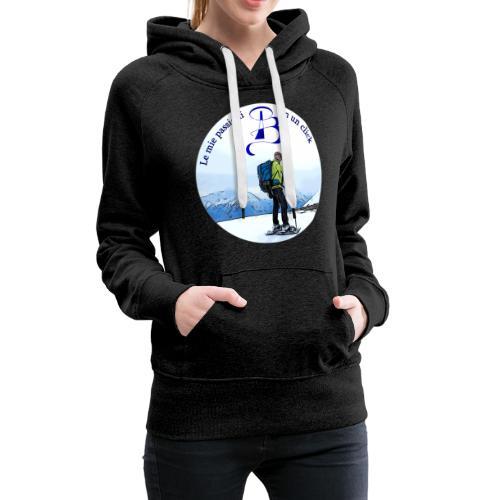 Logo cartone ciaspole - Felpa con cappuccio premium da donna