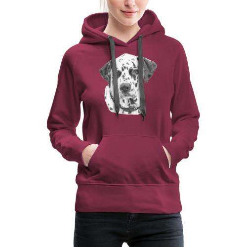 dalmatian - Dame Premium hættetrøje