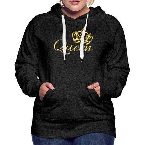 Queen Or -by- T-shirt chic et choc - Sweat-shirt à capuche Premium pour femmes