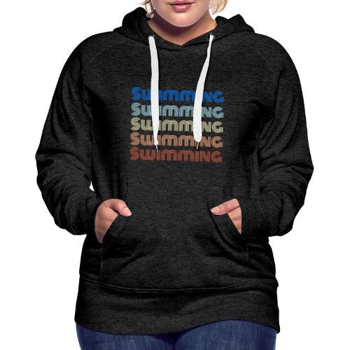 Swimming - Felpa con cappuccio premium da donna