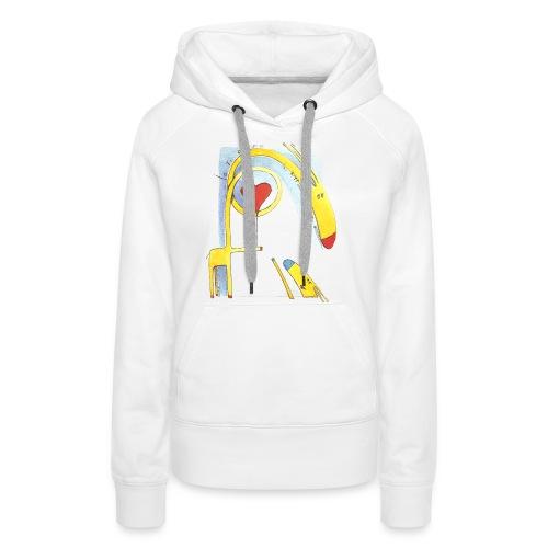 Giraffa innamorata - Felpa con cappuccio premium da donna