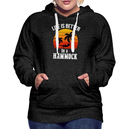 Reisen Weltreise Travelshirt Hängematte - Frauen Premium Hoodie