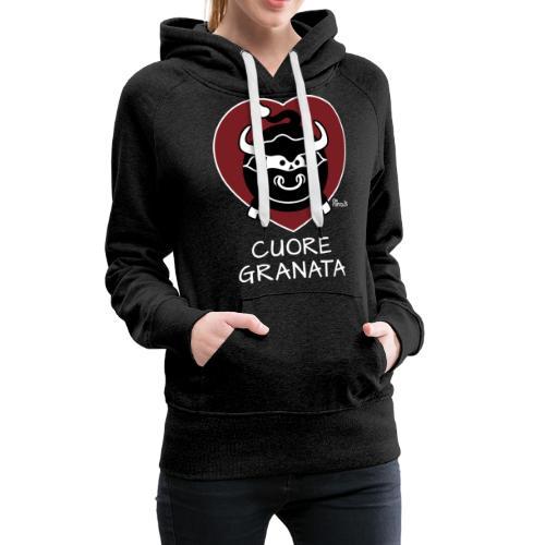 Torino Cuore Granata, Football Club, Calcio Italia - Sweat-shirt à capuche Premium pour femmes