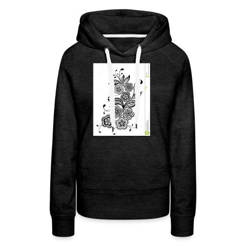 diseño de flores - Sudadera con capucha premium para mujer