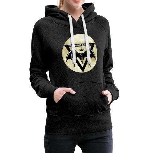 Single WGM Logo Moon Design - Women's Premium Hoodie