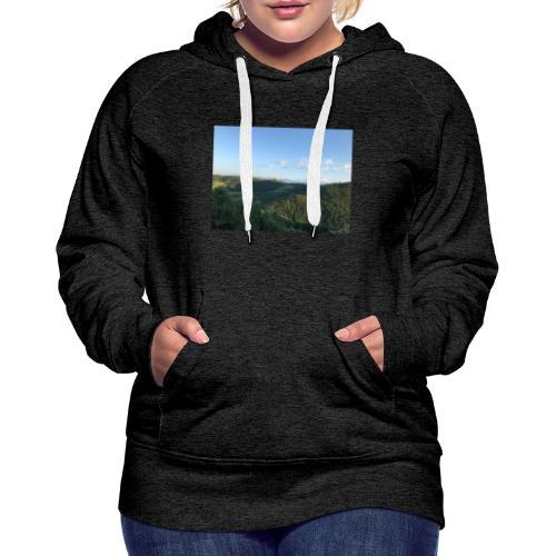 paesaggio - Felpa con cappuccio premium da donna
