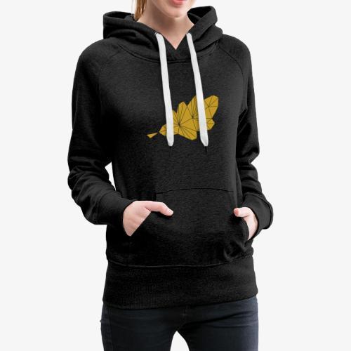Eiche Blatt geometrisch - Frauen Premium Hoodie
