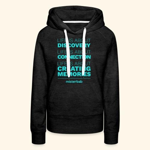 misterb&b - Sweat-shirt à capuche Premium pour femmes
