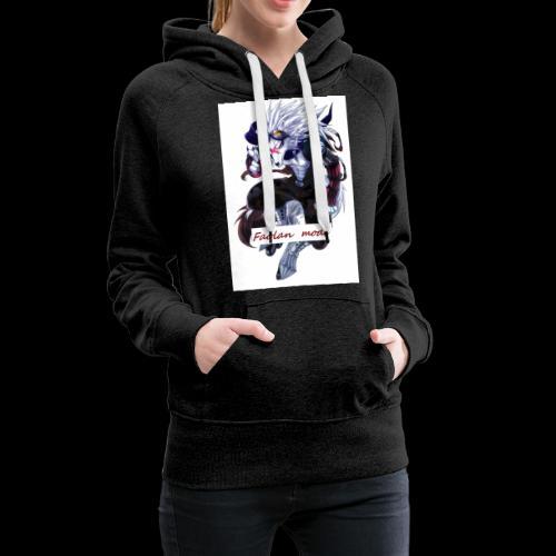 Loup Guerrier - Sweat-shirt à capuche Premium pour femmes